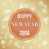 Rétros nouvelles années de fond de souhait Photo libre de droits