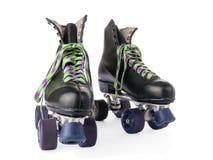 Rétros patins de rouleau d'isolement Images stock