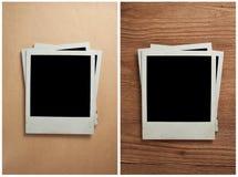 Rétros photographies blanc Photographie stock