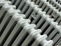 Rétros radiateurs blancs Image stock