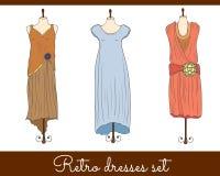 Rétros robes réglées illustration stock
