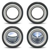 Rétros roues de vecteur Photographie stock libre de droits