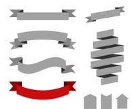 Rétros rubans de vecteur Image stock