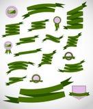 Rétros rubans et illustration réglés de vecteur de label Photographie stock