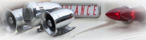 Rétros sirènes d'ambulance Image libre de droits