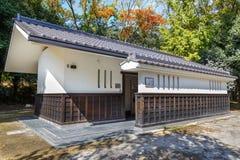 Rétros toilettes japonaises de conception au château de Nijo à Kyoto Images libres de droits