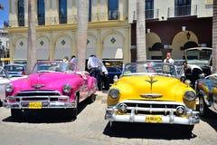 Rétros voitures à La Havane Photos libres de droits