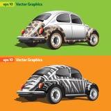 Rétros voitures avec la copie animale Images stock