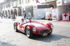 Rétros voitures Mille Miglia de course célèbre Photos libres de droits