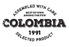 Réuni dans le tampon en caoutchouc de la Colombie illustration stock