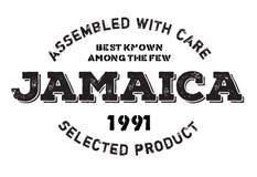 Réuni dans le tampon en caoutchouc de la Jamaïque illustration stock