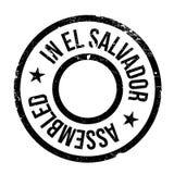 Réuni dans le tampon en caoutchouc du Salvador illustration libre de droits