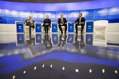 Réunion annuelle 2018 de forum économique mondial dans Davos Photo stock