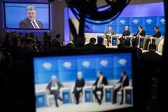 Réunion annuelle 2018 de forum économique mondial dans Davos Images libres de droits