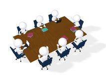 réunion d'affaires de l'imagen 3d Concept de séance de réflexion Image stock