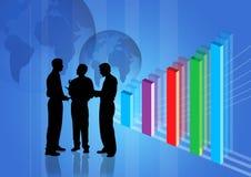 Réunion d'affaires et bénéfice GR Image stock