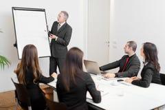 Réunion d'affaires : groupe d'hommes d'affaires au travail Image libre de droits