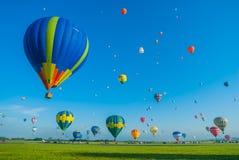 Réunion de ballon d'air chaud de Mondial en Lorraine France Images stock