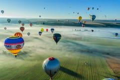 Réunion de ballon d'air chaud de Mondial en Lorraine France Photo libre de droits