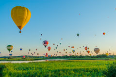 Réunion de ballon d'air chaud de Mondial en Lorraine France Photo stock