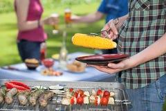 Réunion de barbecue Images libres de droits