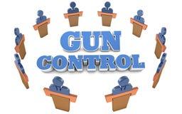 Réunion de discussion de politique de contrôle des armes Illustration Stock