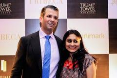 Réunion de Donald Trump Jr avec des personnes photographie stock