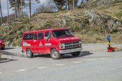 Réunion de Russe (pays se réunissant) à la forteresse 2015 (Russe-voiture) de Fredriksten Image stock