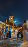 Réunion de Saxon à Sibiu Photographie stock
