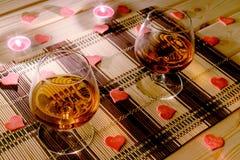 Réunion de soirée le jour du ` s de Valentine Photos libres de droits