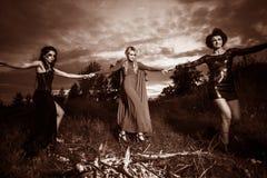 Réunion de sorcières de Whitches Images libres de droits