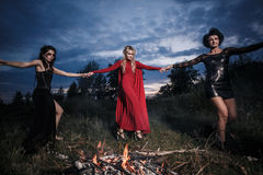 Réunion de sorcières de Whitches Photos stock