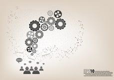 Réunion de travail d'équipe et concept d'échange d'idées Illustration Libre de Droits