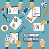 Réunion des gens d'affaires pour la planification des affaires Photo stock