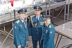 Réunion des vieux amis sur la célébration sur Victory Day annuelle, mai Images libres de droits