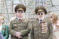 Réunion des vieux amis sur la célébration sur Victory Day annuelle, mai Photos libres de droits