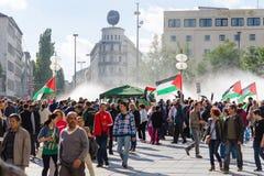 Réunion Pacifique contre l'infraction de droites au Palestini image stock
