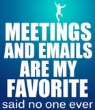 Réunions et emails Image stock
