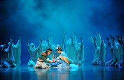 Réunissez-Hui la lune de ballet au-dessus de Helan Photo stock