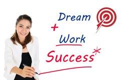 Réussi du concept d'affaires par rêve et travail Image stock