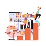 Réussissez le concept de vecteur pour la bannière de Web, page de site Web illustration libre de droits