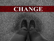 Réussite commerciale avec le changement Images libres de droits