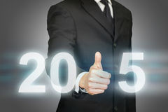 Réussite commerciale 2015 d'année Photos libres de droits