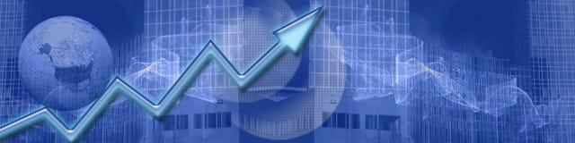 Réussite croissante d'affaires de ww d'en-tête Images stock