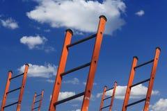 réussite d'échelles à Image stock