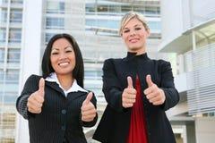 Réussite d'équipe d'affaires de femme Image stock