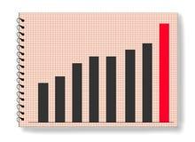 Réussite d'augmentation de tableau de statistiques de stat de graphique Images stock
