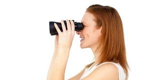 Réussite de prévision de femme d'affaires future Image stock