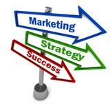 Réussite de stratégie marketing Image libre de droits