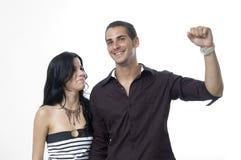 réussite heureuse de couples Photo libre de droits